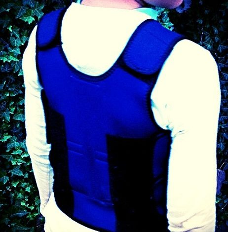 A weighted vest for the low tone child